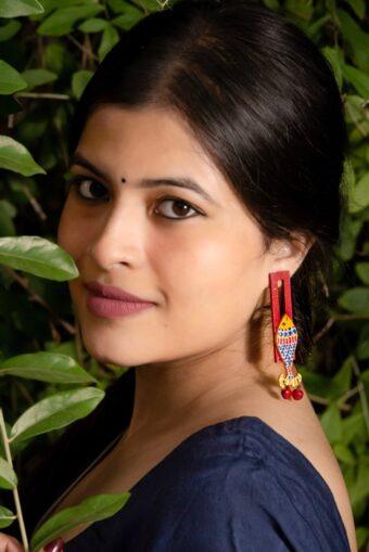 Handpainted Madhubani jewellery